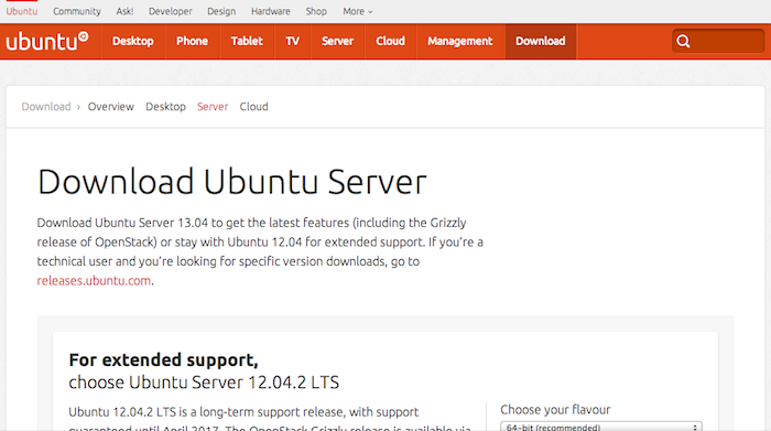 Download Ubuntu Server 12.04