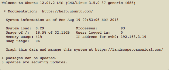 Ubuntu Message of the Day
